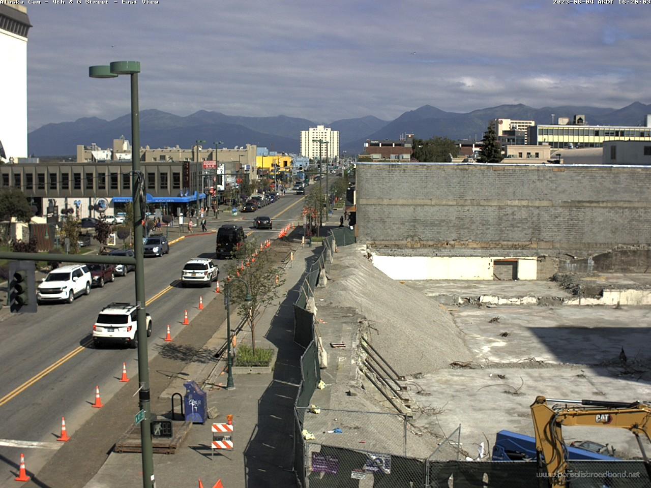 Anchorage – 4th Avenue & G Straße (Blick nach Osten) webcam Live