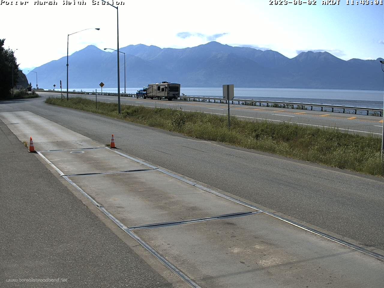 Anchorage – Potter Marsh Wiegestation (Seward Highway) webcam Live